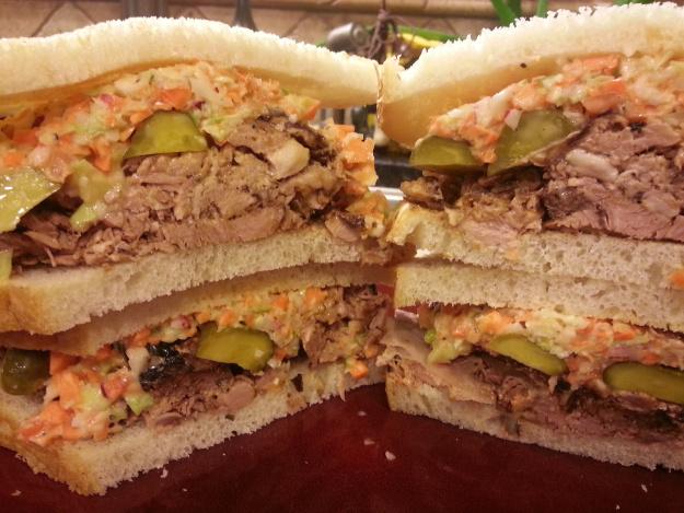 Pulled Pork & Apple Cider Slaw Sandwiches