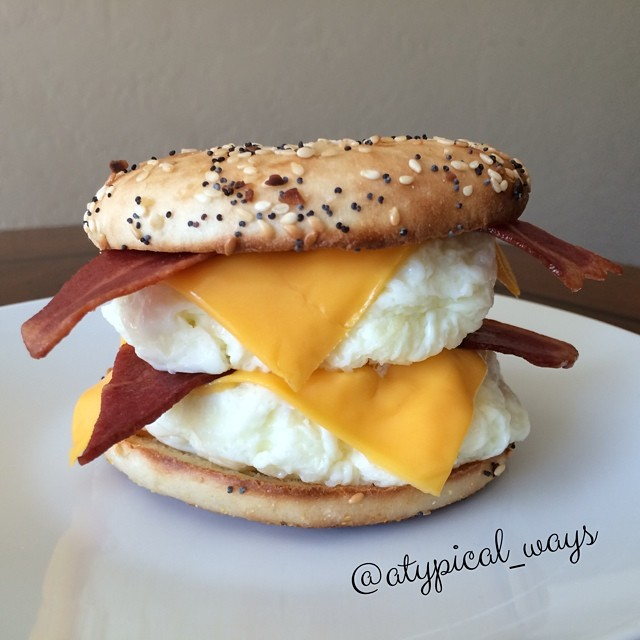 Quick & Simple Breakfast Sandwich with only 315 calories! Ready in less than 15 minutes with minimal clean up!