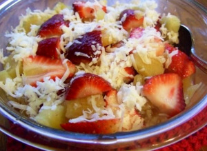 Strawberry Coconut Salad