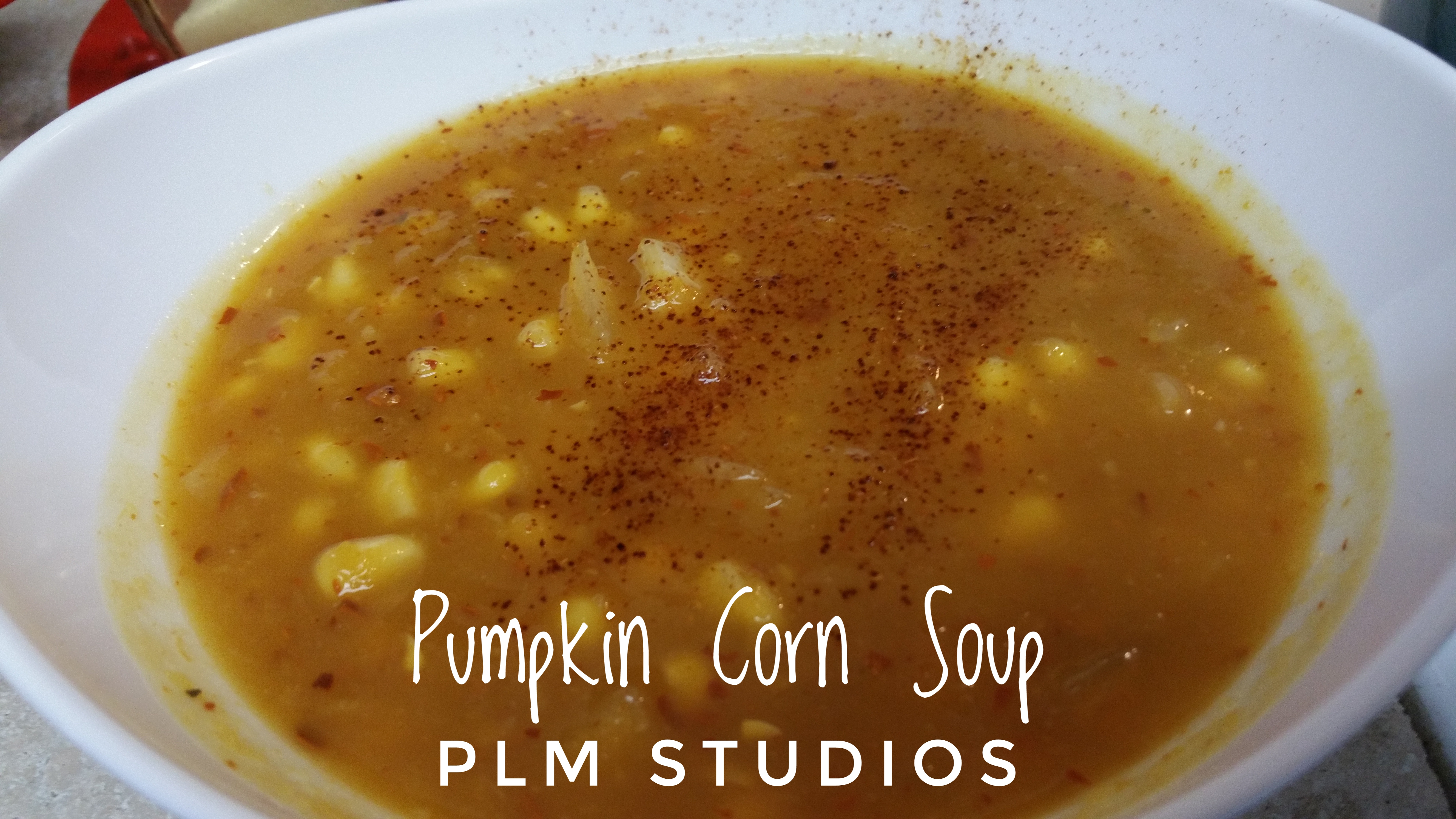 Pumpkin and Sweet Corn Soup (Slow Cook the Pumpkins & Micro the Onion) Save Your Tears for a good movie!